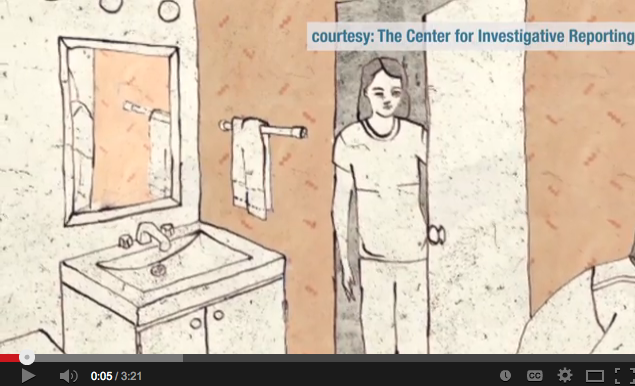 "Ryan Gabrielson's project included ""In Jennifer's Room,"" an animated story of a victim whose face they couldn't show and whose family member's voices they couldn't use. Credit: Video screenshot"