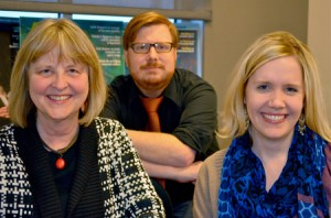 AJR Editors Leslie Walker, Sean Mussenden and Lisa Rossi