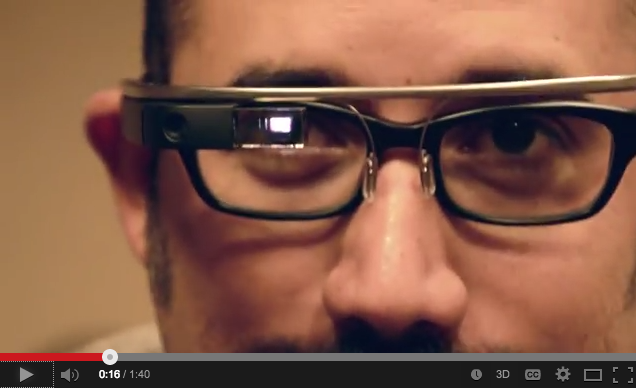 Robert Hernandez demonstrates Google Glass.  See below for our video.