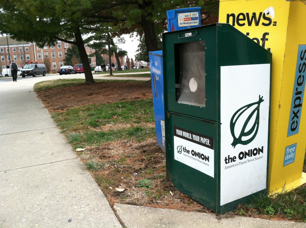 The Onion ceases its print operation this month and goes to an online-only format.