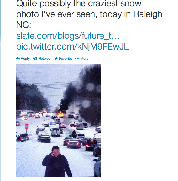 Storm screenshot from Eric Holthaus's Twitter feed.