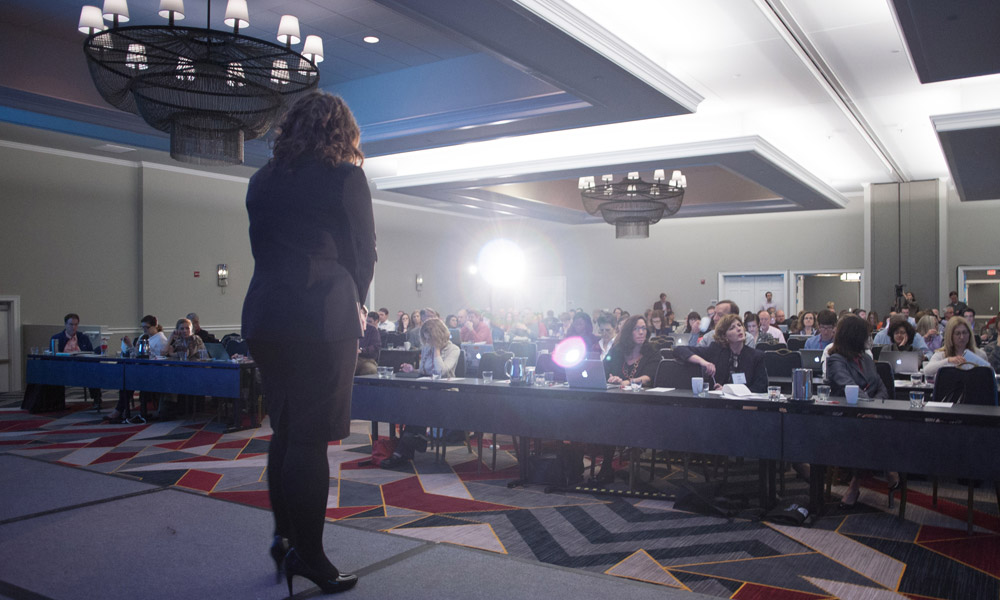 Amy Webb at Journalism Interactive 2014.