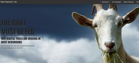 """The Goat Must Be Fed"" report on newsrooms using digital tools"