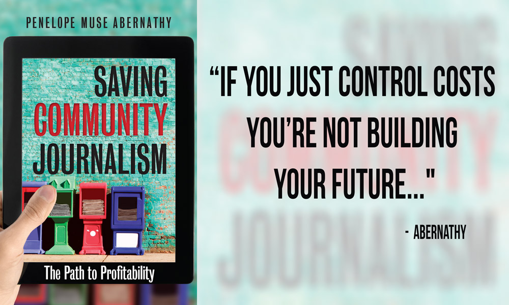Saving Community Journalism book