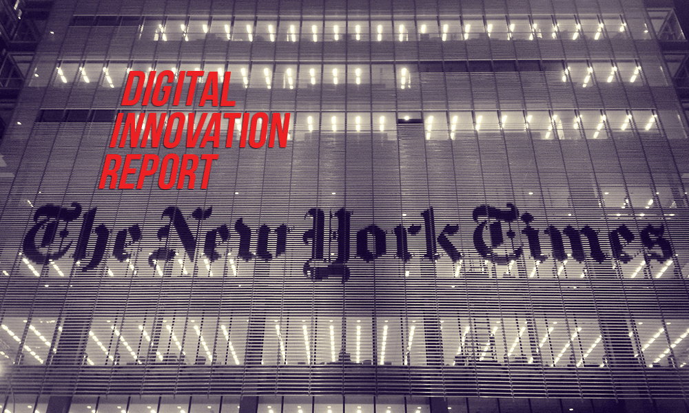 AJR photo illustration by Sean Mussenden. Photo of New York Times headquarters by Alec Perkins.