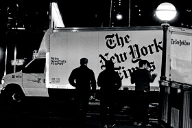 New York Times newspaper delivery truck