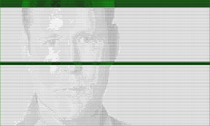 ASCII portrait of Brian Krebs of KrebsonSecurity.org.