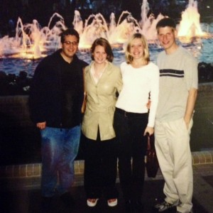 Interns from the 2003 Washington Center for Politics and Journalism program. Pictured: Andy Netzel, Kelly Grant, Lisa Rossi and Greg Bluestein.