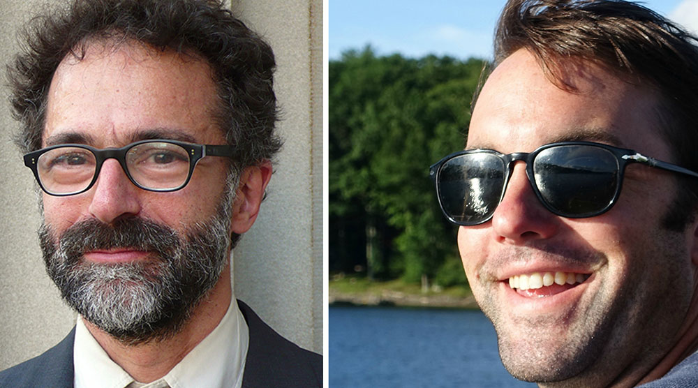 Talkhouse editor-in-chief Michael Azerrad (left) and site co-founder Ian Wheeler (right)