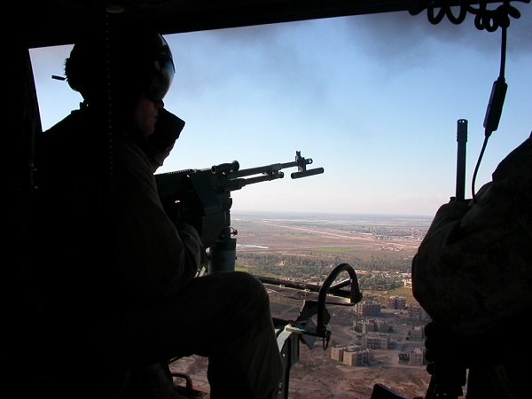 Marines fly over Iraq