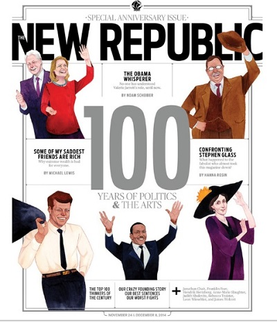 Anniversary cover of The New Republic print magazine