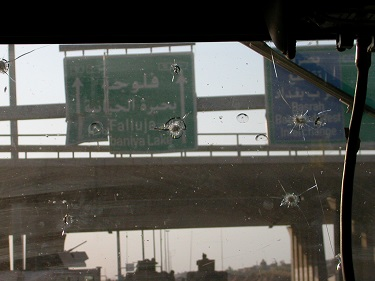 Outside Fallujah, 2004. Photo by Jackie Spinner.