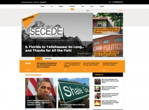 Home page of Sputnik one day after launch.