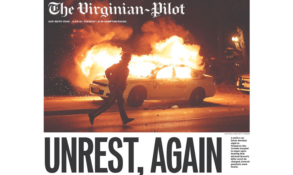 Front Pages after the Ferguson 'No Indictment' Decision - American