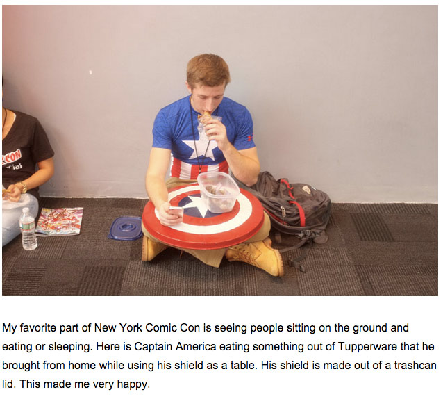 Vice frequently covers events from a first-person perspective, including Comic Con. (Screenshot)