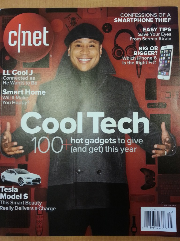 The cover of the first edition of CNET magazine.