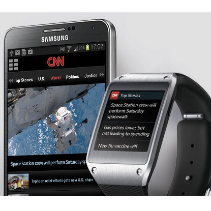 CNN has already developed a smartwatch app. Photo courtesy of CNN's Press department.