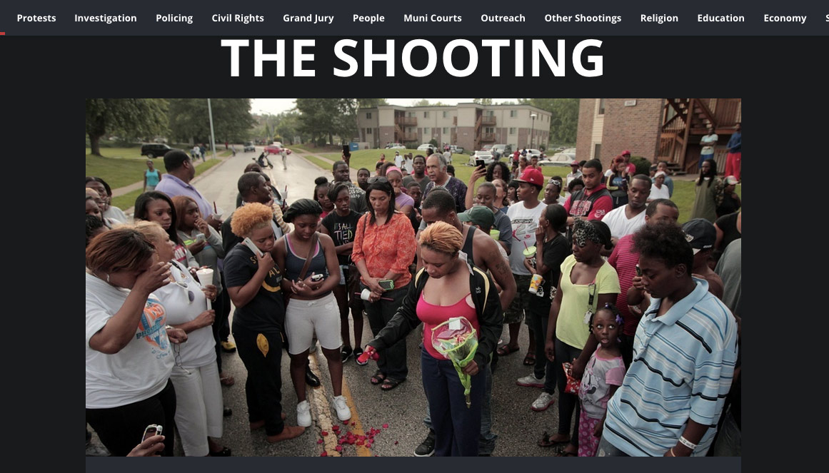 "A screenshot from the ""Ferguson"" project at the St. Louis Post-Dispatch."