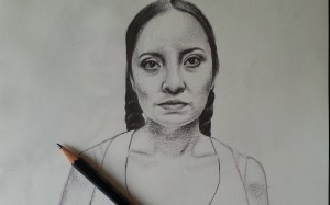Artist Tatyana Fazlalizadeh drew a poster of a 39-year-old woman named Veronica as part of her art project protesting street harassment in Mexico City