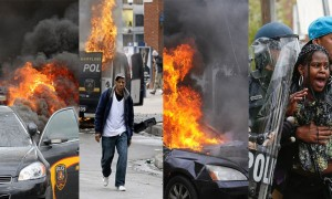 Images of fire and destruction in Baltimore dominated media coverage.