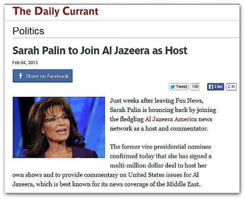 Sarah Palin Hoax